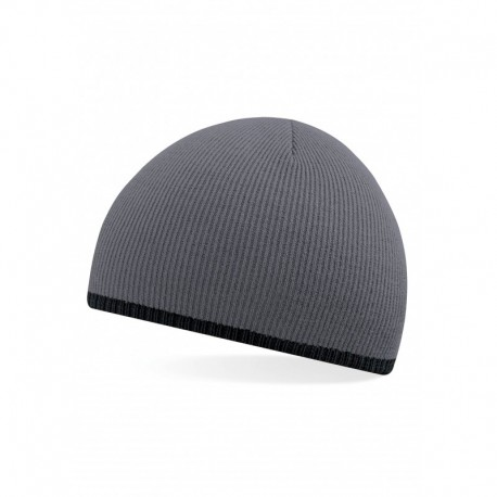 TWO TONE KNITTED HAT  BONNET BICOLORE