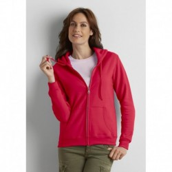 HEAVY BLEND LADIES' FULL ZIP HOODED SWEAT-SHIRT ZIPPÉ CAPUCHE FEMME