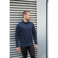Sweat running 1/4 zip homme