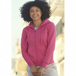 LADY FIT ZIP HOODED SWEAT (62-118-0) SWEAT-SHIRT FEMME CAPUCHE ZIPPÉ