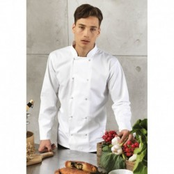 LONG SLEEVE PRESS STUD CHEF'S JACKET VESTE DE CUISINIER MANCHES LONGUES