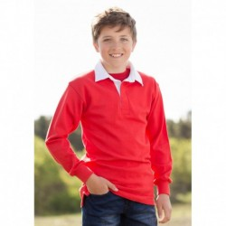 CHILDREN'S LONG SLEEVE PLAIN RUGBY - POLO RUGBY ENFANT