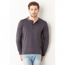 JERSEY LONG SLEEVE HENLEY T-SHIRT HENLEY MANCHES LONGUES