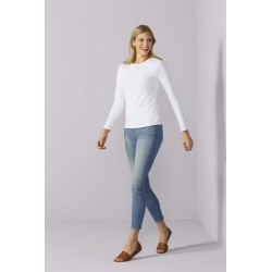 LADIES' FITTED LSL T-SHIRTT-SHIRT FEMME MANCHES LONGUES