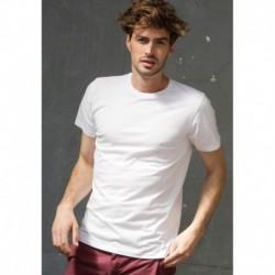 FEEL GOOD T T-SHIRT HOMME EXTENSIBLE COL ROND