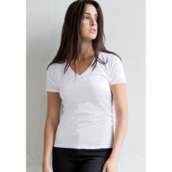 FEEL GOOD V  T-SHIRT FEMME EXTENSIBLE COL V