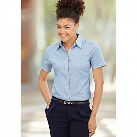 LADY FIT OXFORD SHIRT SLEEVES (65-000-0) CHEMISE FEMME OXFORD MANCHES COURTES
