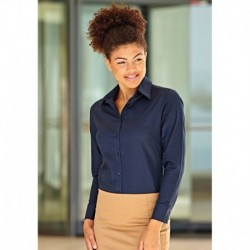 LADY FIT OXFORD SHIRT LONG SLEEVES (65-002-0) CHEMISE FEMME OXFORD MANCHES LONGUES