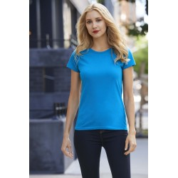 PREMIUM COTTON LADIES T-SHIRTT-SHIRT FEMME PREMIUM COL ROND