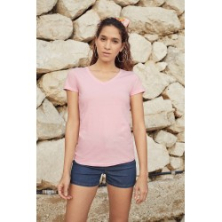LADY FIT VALUEWEIGHT V NECK (61-398-0)T-SHIRT FEMME COL V